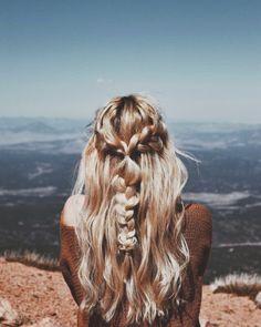 boho blonde hair braids, half up half down braids summer blonde hair Messy Hairstyles, Pretty Hairstyles, Wedding Hairstyles, Hairstyle Braid, Beach Hairstyles, Baddie Hairstyles, Holiday Hairstyles, Hair Inspo, Hair Inspiration