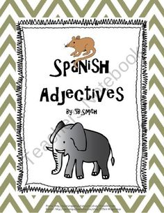 Spanish Adjective PICTURE Notes SET product from Spanish the easy way! on TeachersNotebook.com