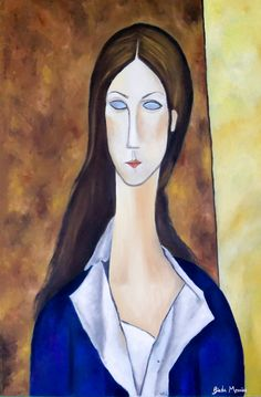 Amedeo Modigliani - acrylic on canvas