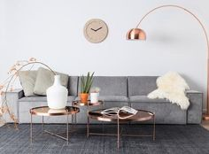 Copper Coffee Table - 20% OFF