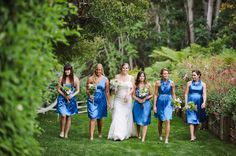 Corn Flower Blue Bridesmaids Dresses