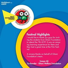 7th Lahore International Childrens Film Festival Presents (16-21 November2015)  World's best 77 film from 26 countries  Dont forget to grab your ticket  For more details http://ift.tt/1Mphz2c http://thelittleart.org http://ift.tt/1q8qXk6  #TLAORG #LICFF #LICFF15 #Lahore #Children #Film #Festival #Pakistan #Kids