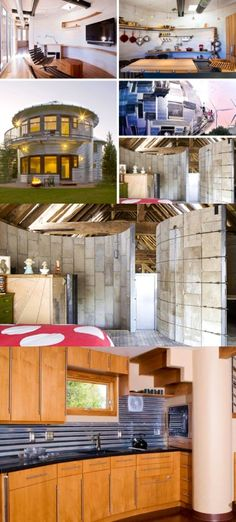 Upcycled Silos Turned Homes