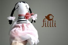 Little Ballerina Doll Handmade Doll Made With Love by Fililishop, £25.00