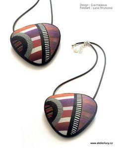 Striped pendant | I made it on workshop with Eva Haskova - g… | Flickr - Photo Sharing!