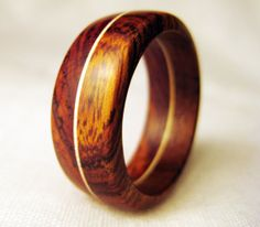 Endeavours Wood Band Ring (Cocobolo and Desert Ironwood)