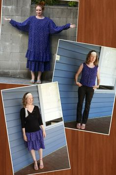 Recycled Fashion #refashion frock swap with New Dress a Day