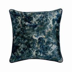 """Decorative Pillow Cover 16""""x16"""", Velvet Throw Pillow Cover Blue Shaded Cushion Cover Abstract Pattern Modern Home Decor Pillow- Deeper Blue"""