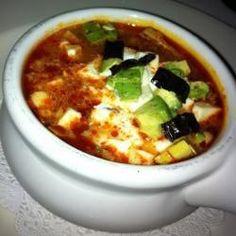Sopa de tortilla de Josefina @ allrecipes.com.mx