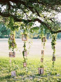 Hanging Frames Wedding Backdrop