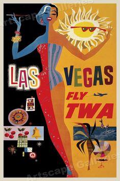 Las Vegas Nevada Bandit    vintage looking 1960/'s travel Decal  bumper sticker