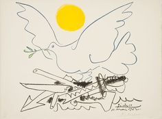 """hirshhorn: Happy International Peace Day! Pablo Picasso, """"Painter at Work,"""" 1962 Color lithograph on p"""