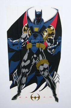 1993 Azrael the New Batman 29 x 14 Dark Knight Detective DC Comics Universe Knightfall Comic Book Superhero Poster 1:1990's Kelley Jones Art