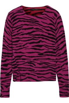 Magenta and black cashmere Slips on 100% cashmere Dry clean Imported