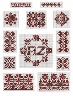 Borders and motifs cross-stitch