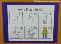 How to draw a person for kindergarten writing