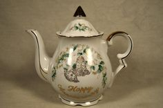Lefton Hand Painted Wedding Anniversary Teapot 1638 Gold