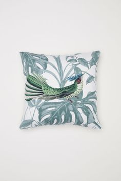 Check this out! Cushion cover in slub-weave cotton fabric with a printed pattern. Concealed zip. - Visit hm.com to see more.