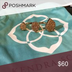 Kendra Scott Naomi Ring Rose gold and rose gold frustrated three finger ringer in S/M Kendra Scott Jewelry Rings