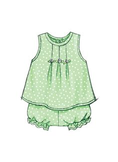 Butterick Sewing Pattern Infants' Dresses, Top, Romper, Panties, Hat and Headband Kids Nightwear, Sewing Baby Clothes, Baby Cards, Hat Sizes, Fashion Sketches, Baby Wearing, Couture, Kids Outfits, Kids Fashion