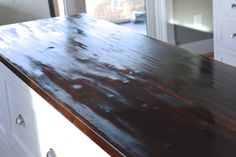 Pure tung oil is a top choice for a food safe wood finish for butcher block counters. It's easy to apply, nontoxic and leaves a beautiful matte finish. Butcher Block Sealer, Diy Butcher Block Countertops, Walnut Butcher Block, Butcher Block Island, Wood Countertops, Real Milk Paint, Affordable Furniture Stores, Wood Sealer, Tung Oil