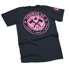Fireman UP Pink Logo Handprinted on American Apparel by Fireman Up   Fireman Up New Arrivals   Fireman Up Made in the USA, and hand-printed graphics in Texas designed by firefighters and their family.