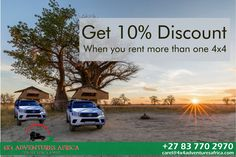 Africa changes you forever, like nowhere on earth. Come experience your own African Adventure. Discount when you rent more than one Just relax and have an adventure with friends and family. Just Relax, 4x4, African, Earth, Adventure, Friends, Vehicles, Amigos, Car