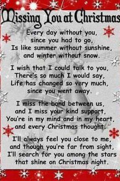 Missing a loved one...