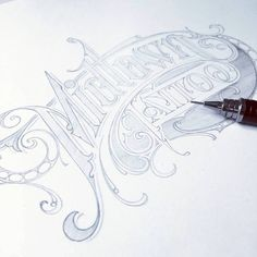 Sketched logotype for Midtown Tattoo, Scotland Vintage Typography, Graphic Design Typography, Lettering Design, Hand Lettering, Graffiti Art Drawings, Graffiti Lettering, Calligraphy Letters, Typography Letters, Art Journal Inspiration