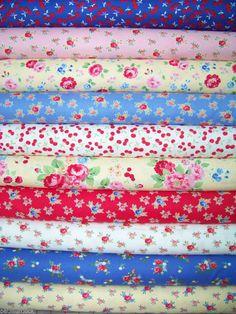 10 Fat Quarters Bundle of PAM KITTY PICNIC Fabrics - 2.5 yards total