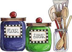 Ahora los protagonistas en imagenesydibujosparaimprimir.com  son los utensilios de cocina en dibujos de cosas de cocina para imprimir  con d...
