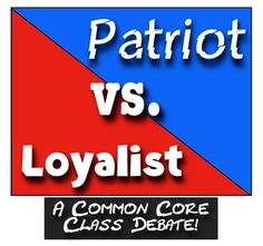 Loyalists: A Common Core Class Debate! This Patriots and Loyalists Revolutionary War activity is part of two bundles to save you even more! Both bundles are priced to save you considerably! 4th Grade Social Studies, Social Studies Activities, Teaching Social Studies, 8th Grade History, Study History, Teaching Us History, History Teachers, History Classroom, Classroom Fun