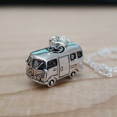 VW Bus - Sterling Silver Charm Necklace