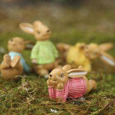 Miniature Polyresin Bunny Pals