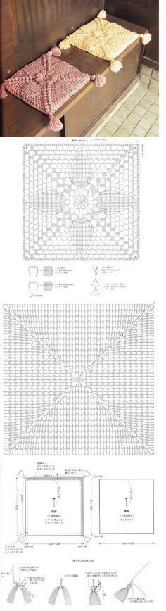 Tejido Facil: Patrón: almohadones super elegantes / Super elegant cushions with crochet