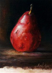 Pear Still Life Original Oil Painting by Nina by RomaGalleries, $60.00