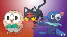 Pokemon sun and moon starters