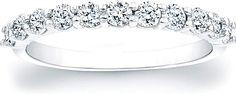 Common-Prong Round Brilliant Diamond Wedding Band SCS1294AW
