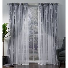 Shop ATI Home Alegra Thermal Woven Blackout Grommet Top Curtain Panel Pair - On Sale - Free Shipping Today - Overstock - 18590736 96 Inch Curtains, Sheer Curtain Panels, Home Curtains, Grommet Curtains, Window Curtains, Curtains Living, Window Treatment Store, Window Treatments, Curtains