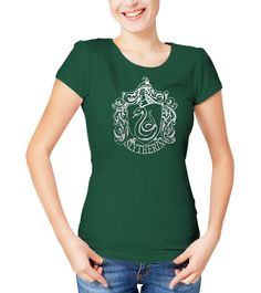 NUOVO Ufficiale Harry Potter-Serpeverde SPORT Girlie T-shirt