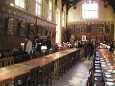 The dining hall at Christ College, Oxford, inspiration behind the Hogwarts Great Hall