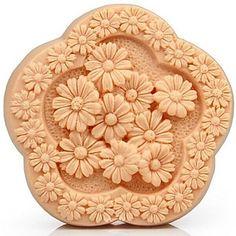margarita flores en forma de herramientas de decoración de la torta de chocolate fondant de silicona molde de la torta, l9.2cm * w9cm * h3cm – USD $ 11.99