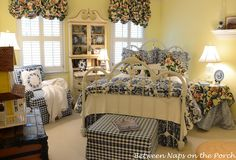 blue willow country bedroom - Google Search