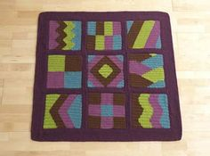 This crochet afghan sampler is the perfect way to learn how to crochet reversible crochet intarsia. Learn Reversible Intarsia Sampler - Media - Crochet Me