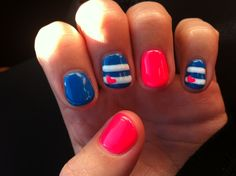 Pink and blue... Loving it! :)