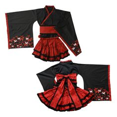 japanese Kimono Gothic lolita. Those sleeves would be so annoying to wear. XD