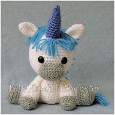Ravelry: Stanley the Unicorn pattern by The Left-Handed Crocheter