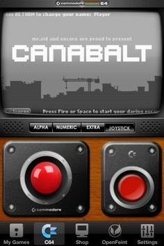 Canabalt for Commodore 64 running on iPhone 4 iOS C64 App