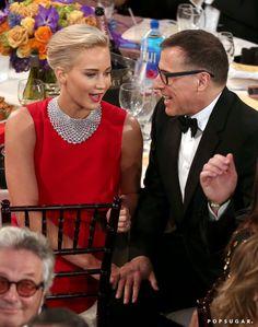 Pin for Later: Les 25 Meilleurs Moments Qui Ont eu Lieu Backstage Lors des Golden Globes Jennifer Lawrence et David O. Russell
