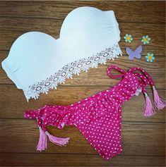 Women Sexy Swim Swimwear string Bikini Bandeau Swimsuit Push Up Bathing Suit